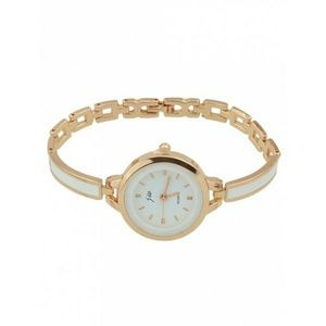 Accessories - Round Dial Plate Alloy Chain Watch - Rose Gold